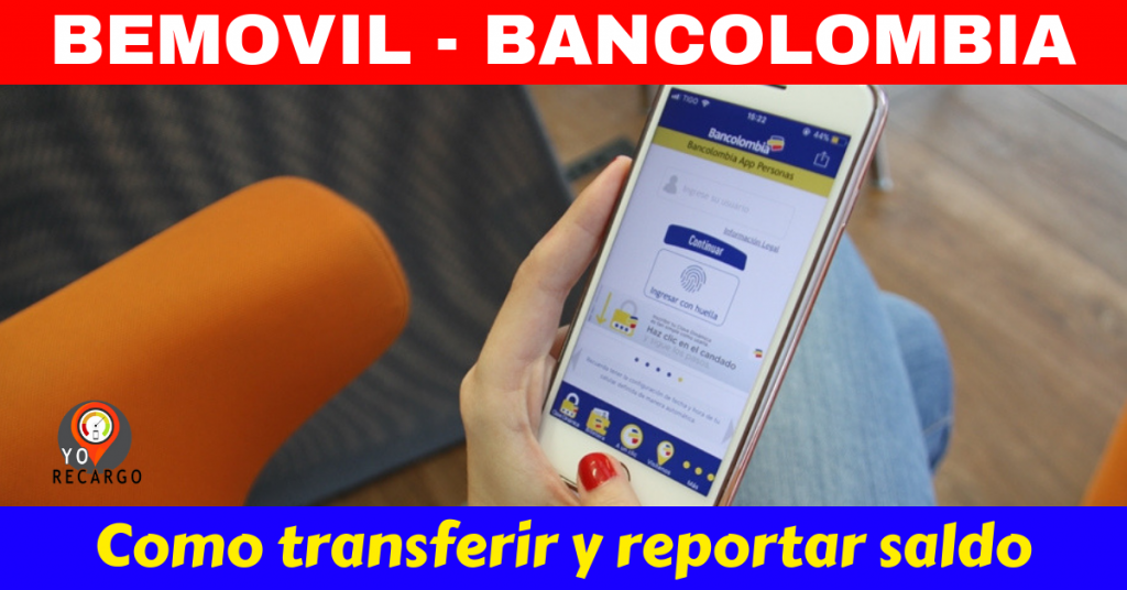 Be movil Bancolombia recargas en linea
