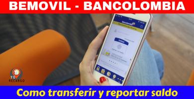 Be movil Bancolombia recargas en linea